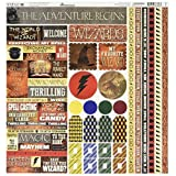 "Reminisce WIZA-100 Wizard Cardstock Sticker, 12"" by 12"", Multicolor"