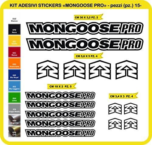 Kit Pegatinas Stickers Bicicleta Mongoose Pro -15 Piezas- Bike Cycle Cod. 0815 (070 Nero): Amazon.es: Deportes y aire libre