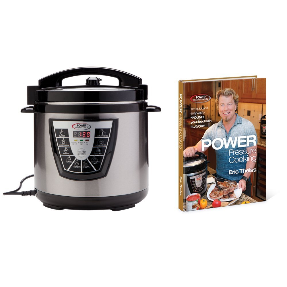 Power Pressure Cooker XL 8 Qt with Eric Theiss' Power Pressure Cooking Cookbook by Tristar Products Inc.