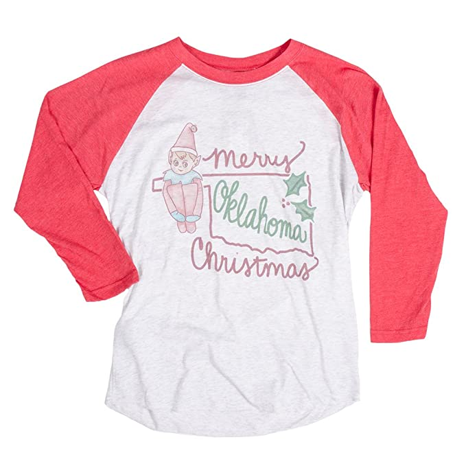 1583b4ee0 Flybird L/S Raglan Ok Christmas White/Red S Womens Shirt at Amazon Women's  Clothing store:
