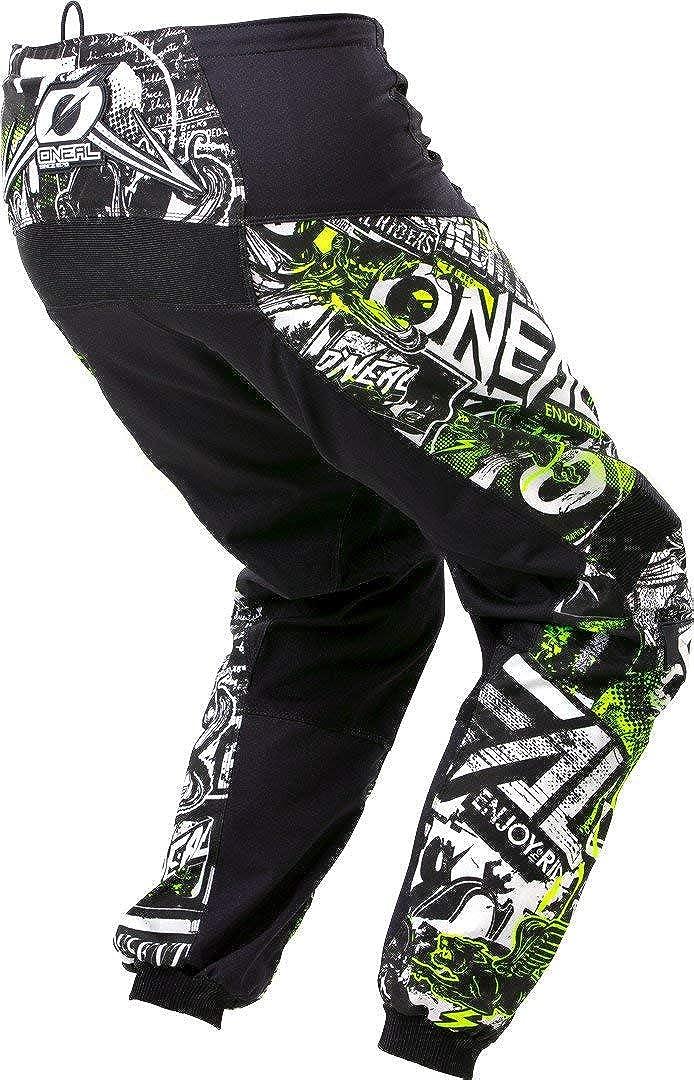 ONeal Element Attack Youth Black//Hi-Viz Motocross Pants 5//6