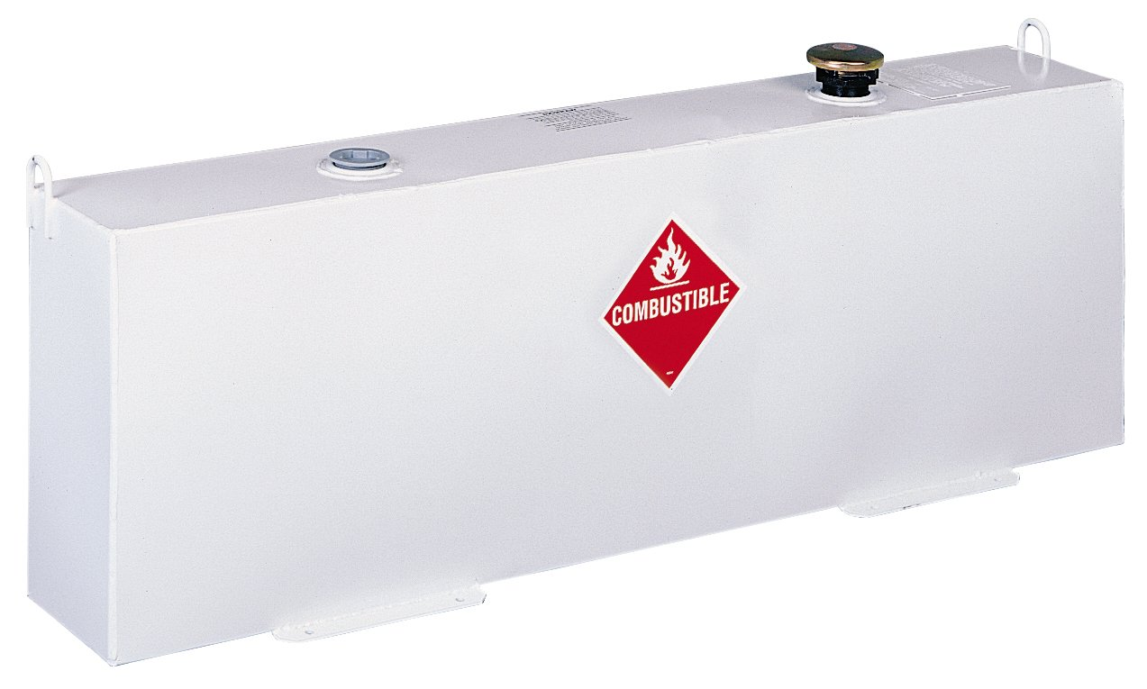 Delta 486000 37 Gallon White Vertical Fuel N Tool Ready Transfer Filter Kit Steel Liquid Tank For Trucks Automotive