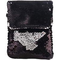 Tjackson Women Sequins Crossbody Shoulder Bag Pouch Case Mini Mobile Phone Handbag Card Holder