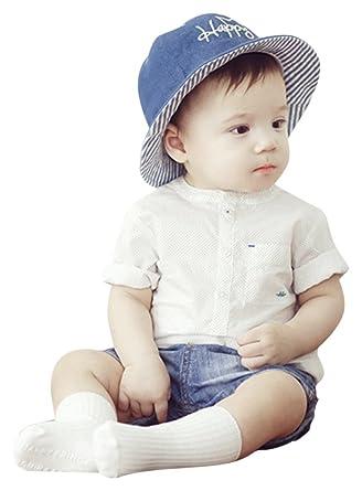 52106bf6d6302 Amazon.co.jp: 赤ちゃん 帽子 ベビー帽子 6-18ヶ月 子供 ハット つば広い uvカット 紫外線防止 キッズ サンバイザー 日よけ帽  肌触りいい 綿生地 吸汗速乾 ぼうし ...