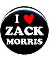 "Saved By the Bell ""I Love Zack Morris"" 1.25"" Pinback Button Pin Badge"