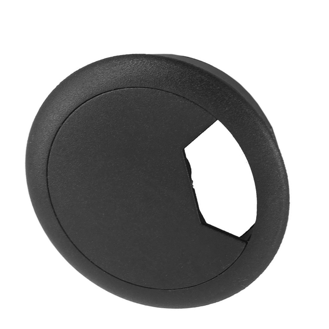SODIAL(R) Hole Cover 2 Pcs 50mm Diameter Desk Wire Cord Cable Grommets Hole Cover Black by SODIAL(R) (Image #3)