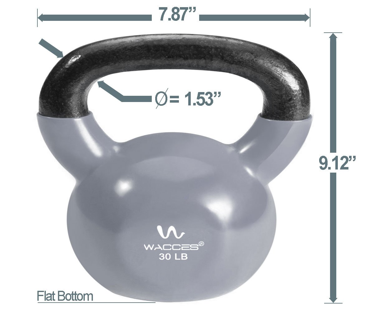 Home Exercise Workout Wacces Single Vinyl Dipped Kettlebell for Croos Training