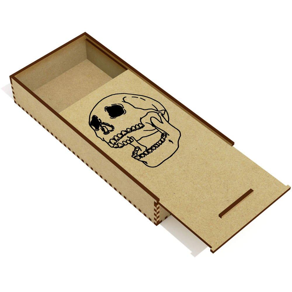 Abra el Cráneo Boca Abajo Estuche de lápices de Madera ...