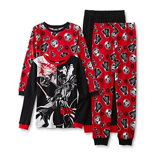 Star War Darth Vader Cotton Boy 4 Piece Slim Pajama Set Size 6 (Lego Kids Star)
