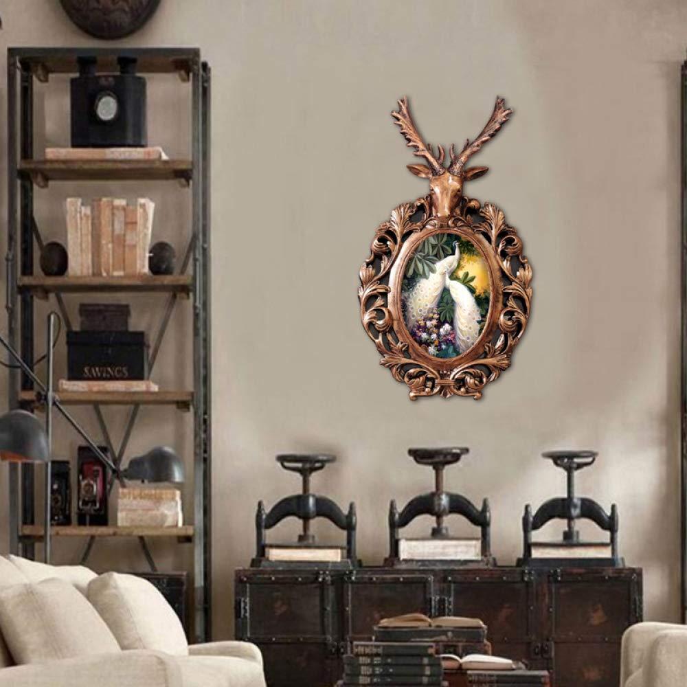 XQY Habitación Cabeza de Ciervo Colgante de Pared Sala de ...