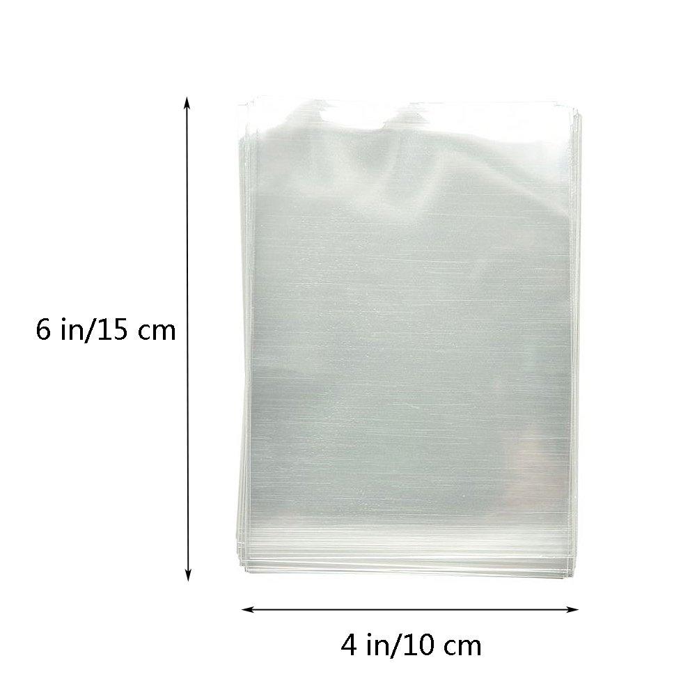 6.8x8.5cm 100 Uds de Bolsa Autocierre con Colgador,Con un lado de papel Transparente y el fondo Blanco.Bolsa Reciclable,para Mostrar o Empaquetar.
