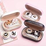 Portalentillas, Kits de estuches para lentes de contacto para niñas, portátil de viaje Funda para almacenamiento de porta lentes de contacto con lindos gatos y lazos: Amazon.es: Salud y cuidado personal