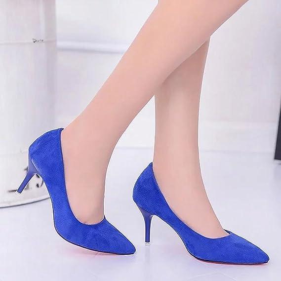 9f8b838cae6 ¡Oferta de liquidación! Mujeres de Covermason Nude Fashion Elegant Ladies  Office Trabajo Flock High Heels Shoes(40 EU