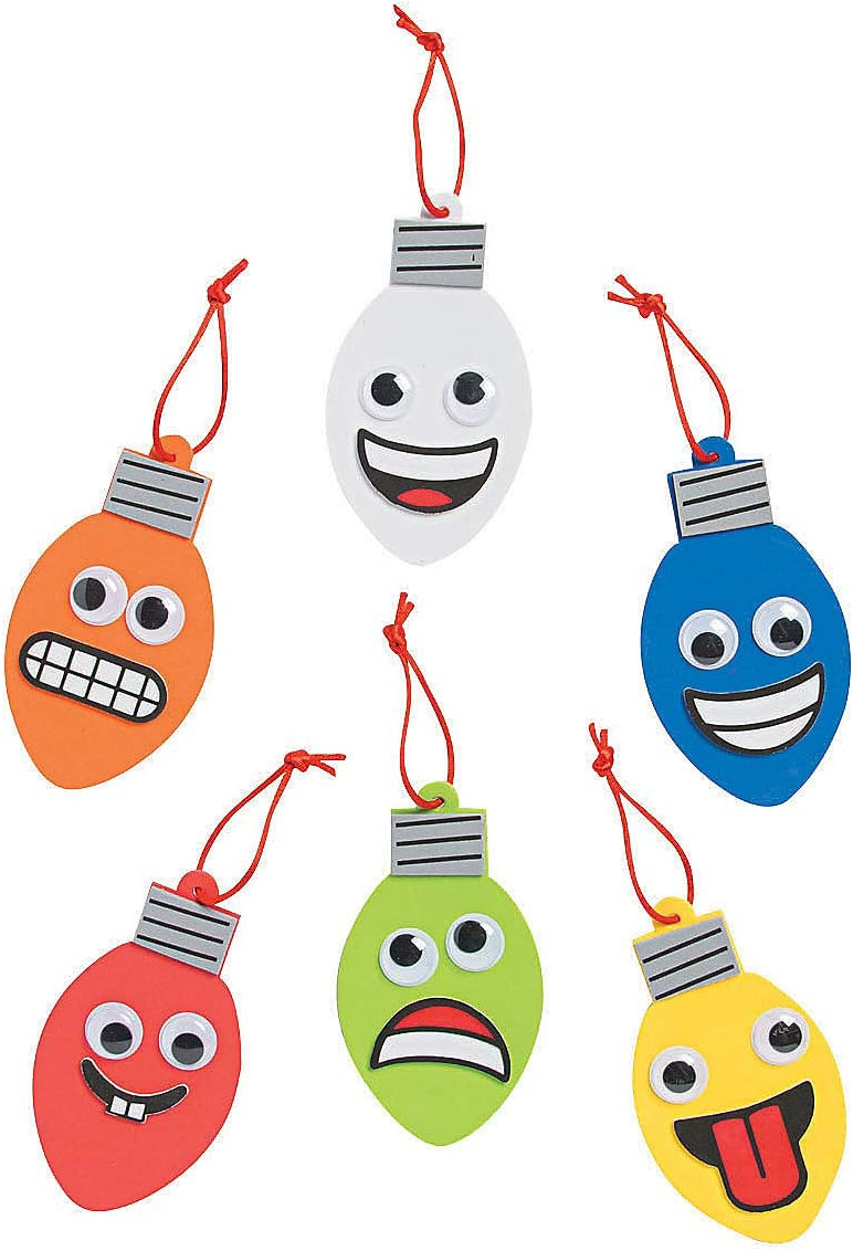 Christmas Item for Boys and Girls of All Ages Goofy Christmas Light Ornament Craft Kit Great for The Festivities Fun Express