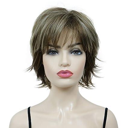 DSY corto capas Shaggy Full sintético peluca Pelucas 12tt26 ...