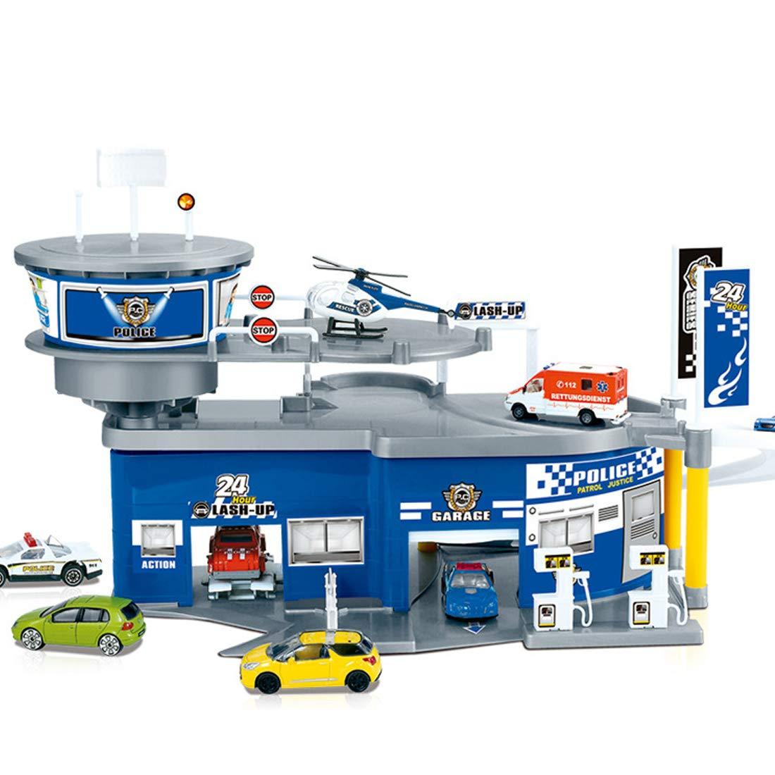 Et Yvsoo NoëlInclus PoliceHélicoptère EnfantParking 3d Garage De VoieKit Voiture Cadeau 3 Idée MzpjLqGSVU