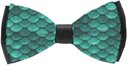 INWANZI Adjustable Length Pre-Tied Bow Tie for Men /& Boys Elegant Mermaid Scale Bowtie