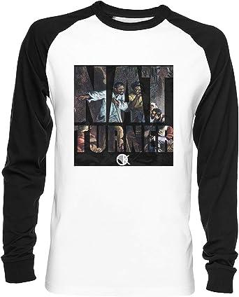 Nat Turner Unisex Camiseta De Béisbol Hombre Mujer Mangas Largas Blanca Negra Todos Los Tamaños - Unisex Baseball T-Shirt: Amazon.es: Ropa y accesorios