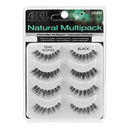 6c7d162fd65 Image Unavailable. Image not available for. Colour: Ardell Demi Wispies  Natural Multi Pack (4 Pairs) False Eyelashes Fake Lashes ...