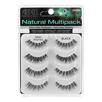 71d32b26967 Amazon.com : THE Best 4 Pairs Ardell Demi Wispies Natural Multipack False  Eyelashes Fake Eye Lashes : Beauty