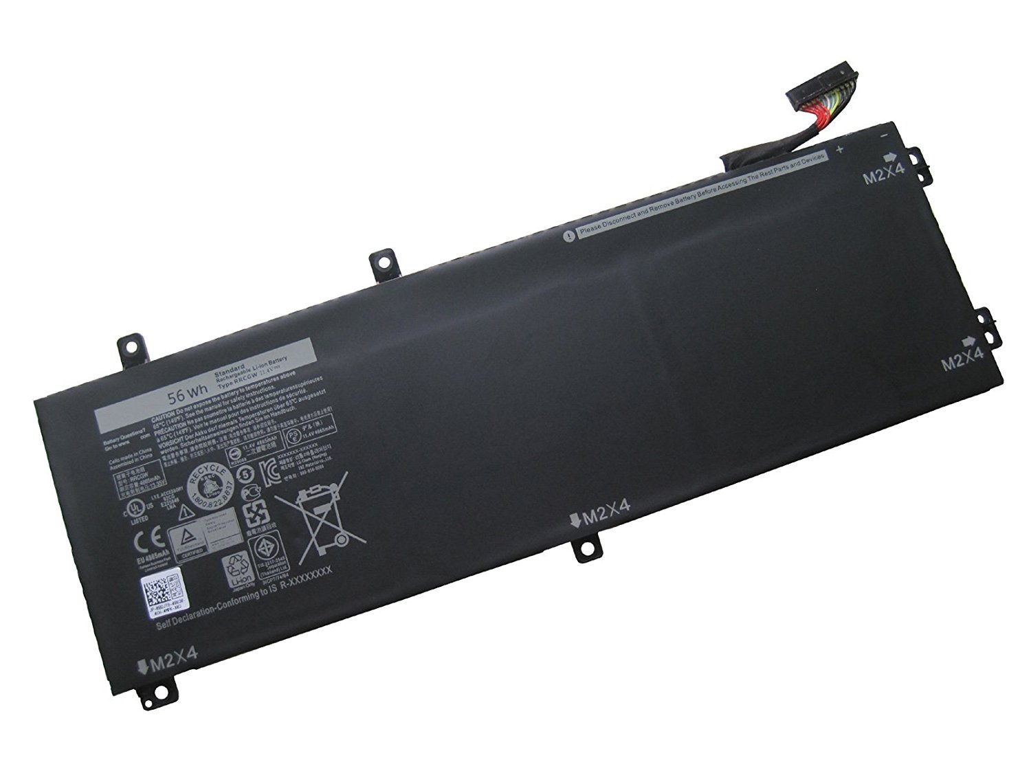 Batterymarket Replacement Laptop Battery RRCGW For DELL XPS 15 9550 Dell Precision 5510 RRCGW M7R96 62MJV - 11.4V 56Wh