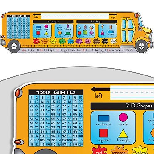 Really Good Stuff Zaner-Bloser Bus-Shaped Desktop Helpers, Self-Adhesive Vinyl - Set of 24 ()