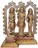 Shri Rama with Sita Ji, Lakshman Ji and Hanuman Ji - Brass Statue