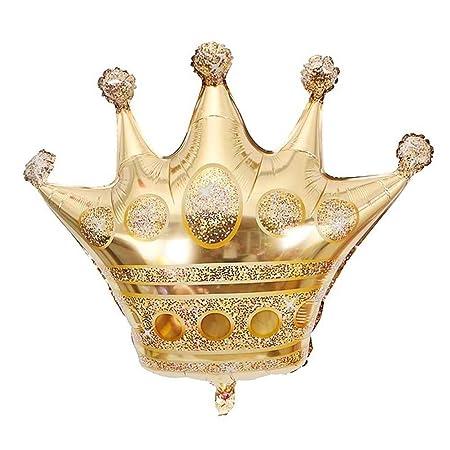 Globo Decoración de Cumpleaños Globos de aluminio con corona ...