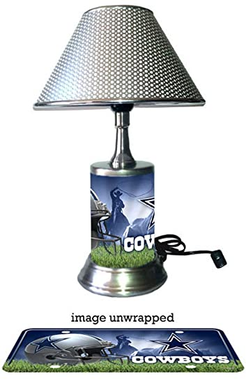 High Quality Dallas Cowboys Lamp With Chrome Shade