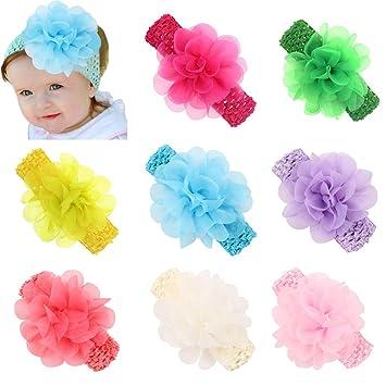 Chic Chic 5pc Farbe Random Baby Madchen Haarband Elastisch Blume