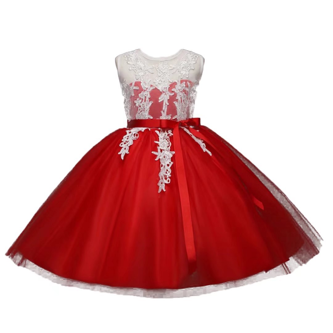 ADHS Kids Baby Girl Special Occasion Wedding Gowns Flower Floral Lace Dresses