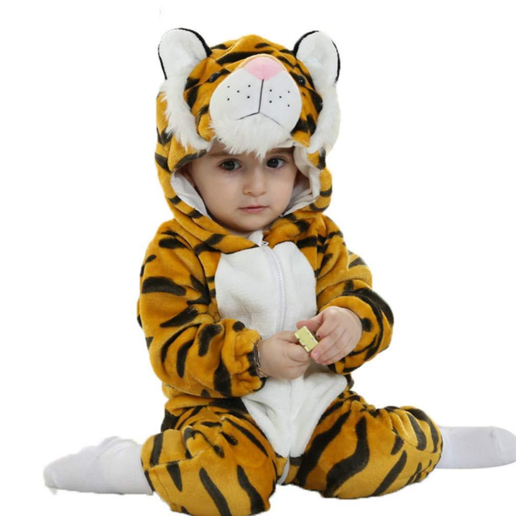 Animal Pyjama Halloween Fêtê Fille Garçons Combinaison Enfant Hiver Chaud Déguisements Noël