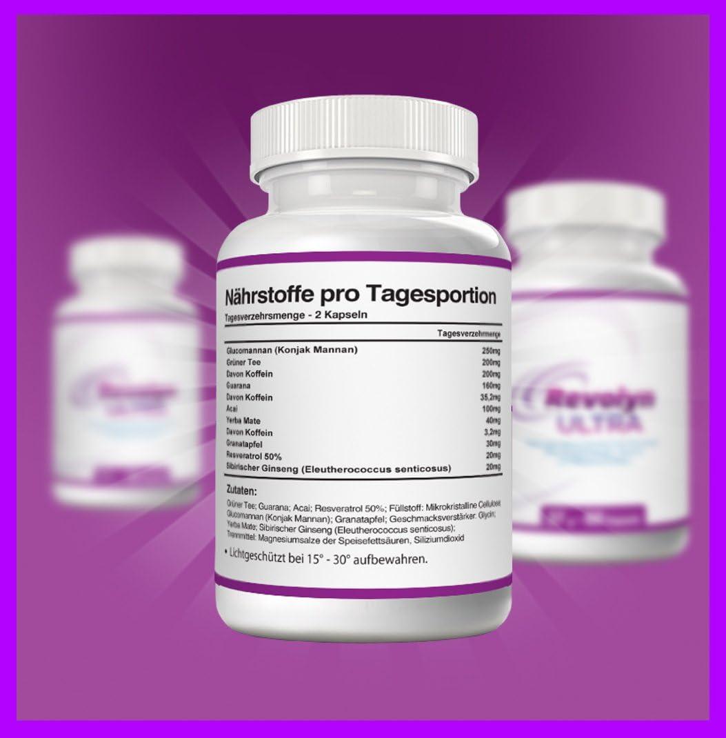 Revolyn Ultra Pilules dietetiques pour une perte poids efficace Flacon