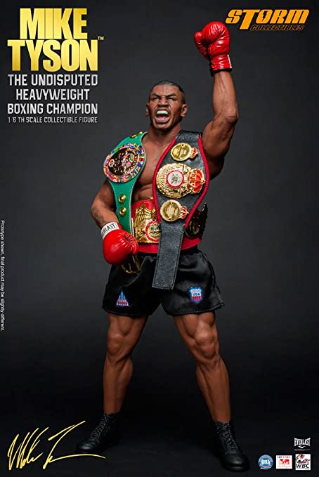 Amazon Com Tyson Mike The Undisputed Heavyweight Boxing Champion 1 6 Scale Action Figure Toys Games