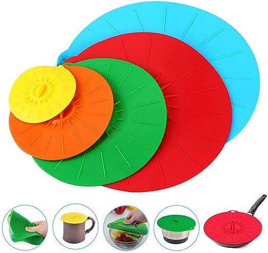 LAOOWANG Tapas de succión de silicona, 5 piezas/juego de cuenco de ...
