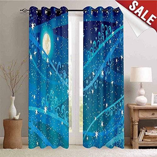 Flyerer Starry Night, Window Curtain Drape, Night Sky