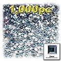 工芸のアウトレット1000-pieceフラットバックスクエアラインストーン、4mm、ライトブルー