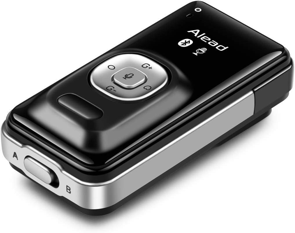 Alead LiveMIC2 Micrófono inalámbrico Bluetooth, largo alcance, baja latencia, para educación, seminario web, conferencia, grabación de voz, sistemas de megafonía, audio para PC, Vlogger, YouTuber
