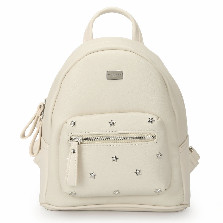 6646093317 Amazon.com  DAVID - JONES INTERNATIONAL Woman s Beige Small Vegan Leather  School Backpack Travel Purse  Shoes