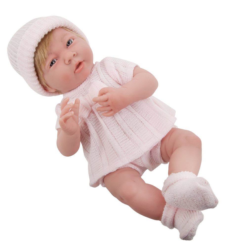 Pink W  Hair JC Toys 18052 La Newborn Baby Doll, bluee Star, 15