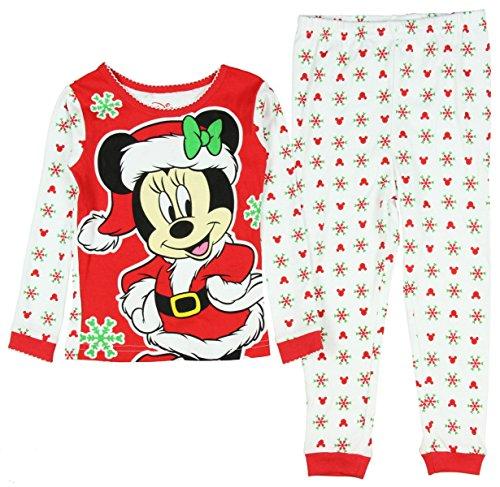Disney Mickey Minnie Mouse Christmas Holiday Baby Toddler Pajamas Sleepwear (5t)