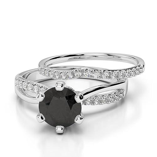 Oro rosa/oro blanco/oro amarillo/Platinum Black Diamond & Diamond Juego de