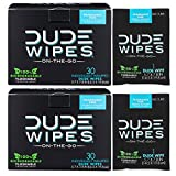 DUDE Wipes, Flushable Single Moist, with Aloe Vera (30 Each, Pack of Two)