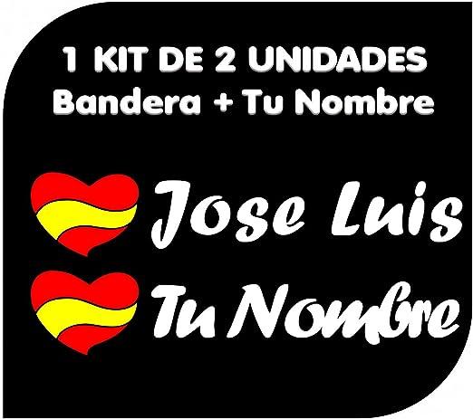 KIT ADHESIVOS NOMBRE Y BANDERA PERSONALIZADO BICICLETA X2 UNIDADES y 1 casco