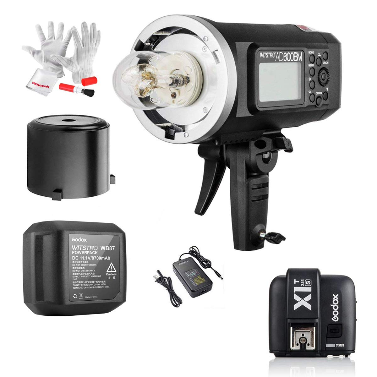 Godox AD600BM 600Ws GN87 1/8000 HSS Outdoor Flash Strobe Monolight with X1T-S TTL Wireless Flash Trigger and 8700mAh Battery with MI Shoe Like A77II A7RII A7R A58 A99 ILCE6000L by Godox