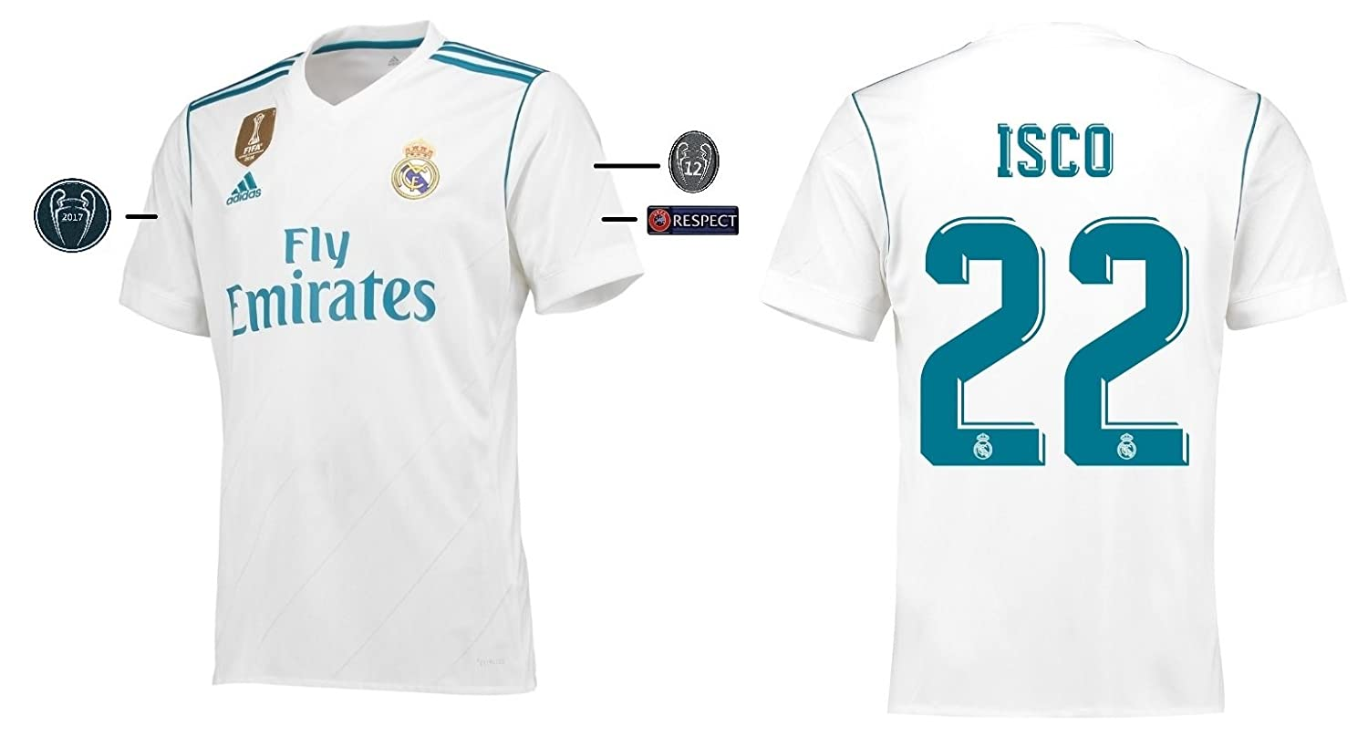 Trikot Kinder Real Madrid 2017-2018 Home UCL - Isco 22