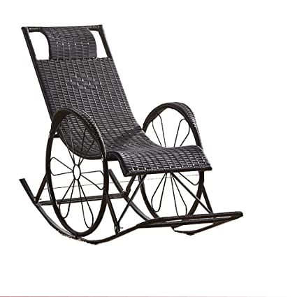 Amazon.com: DYQTY Rocking Chair Wicker Chair Lounge Chair ...