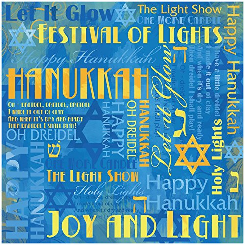 Karen Foster Design Scrapbooking Paper, 25 Sheets, Hanukkah Collage, 12 x - Paper Design Collage Karen Foster