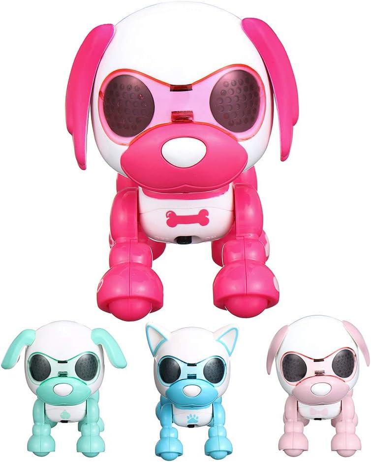 KINGDUO Inteligente Inteligente Mini Cachorro Robot Perro Registro De Sonido Cachorro Juguete Cumpleaños Regalo Colección-Azul: Amazon.es: Hogar