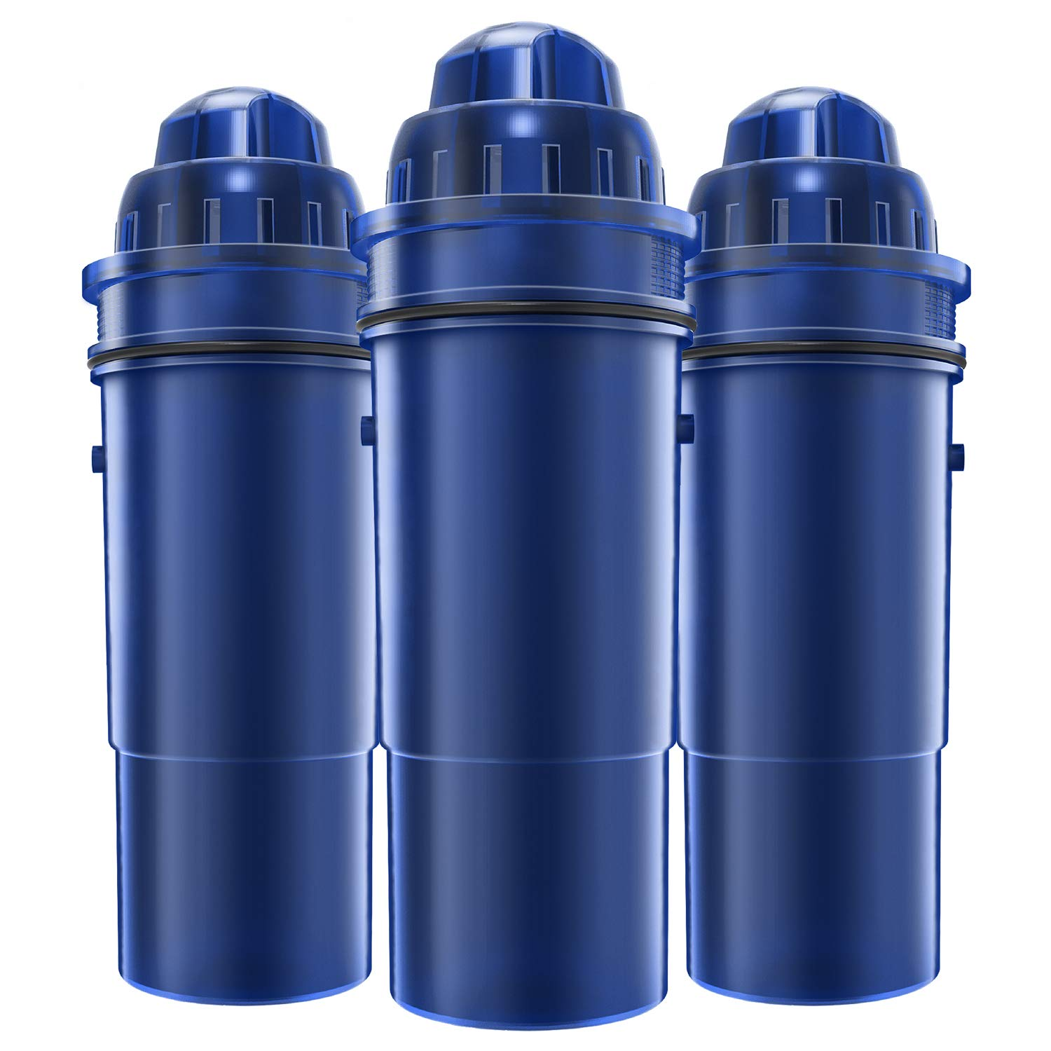 AQUACREST CRF-950Z Pitcher Water Filter, Compatible with Pur Pitchers and Dispensers PPT700W, CR-1100C, DS-1800Z and More (Pack of 3) by AQUA CREST